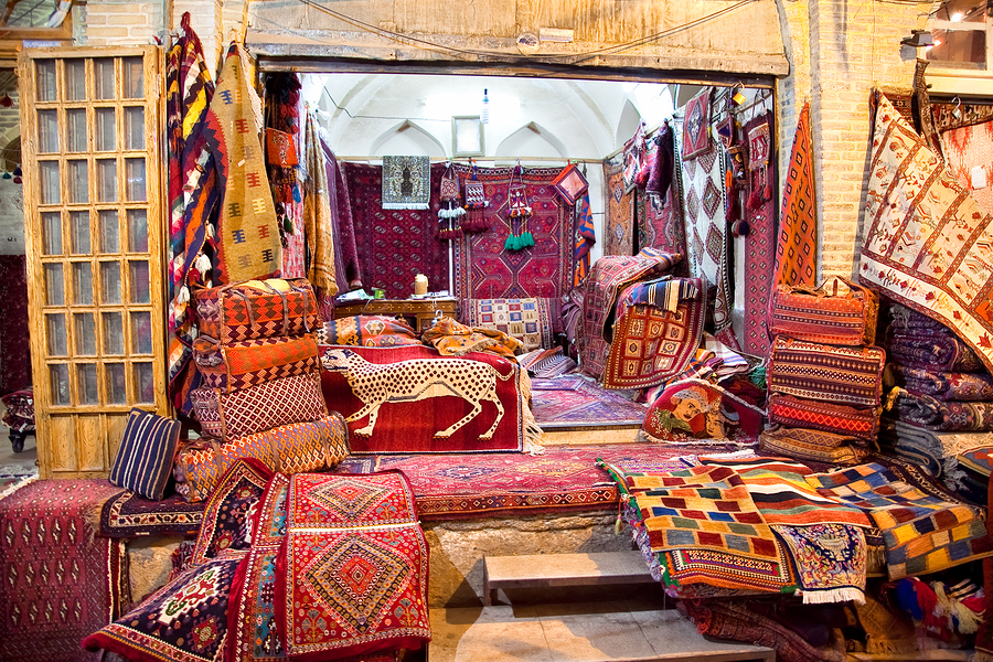 Shop of Persian carpets (Iranian carpets and rugs), Shiraz, Iran